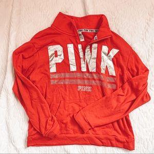 NWOT Pink Pullover Sweater Half Zip